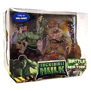 The Incredible Hulk Battle in New York Set w/ Hulk and Abomination