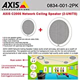 AXIS C2005 Network Ceiling Speaker connected w/ a single cable PoE (2-UNITS)