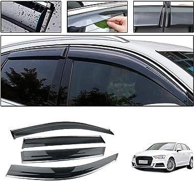 Chrome Trim Side Window Visors Guard Vent Deflectors For Suzuki IGNIS 2016