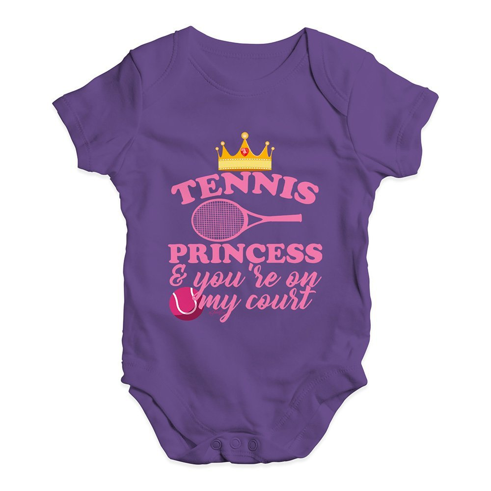 TWISTED ENVY Babygrow Baby Romper Tennis Princess
