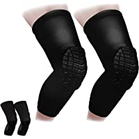 Cantop Knee Sleeve Compression Leg SLeeves Crashproof Protecitve Gear for Volleyball Basketball Foothball and All…