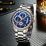 Mens Quartz Watches Luxury Brand Business Watch Stainless Steel Sport Waterproof Wristwatch Male Clock