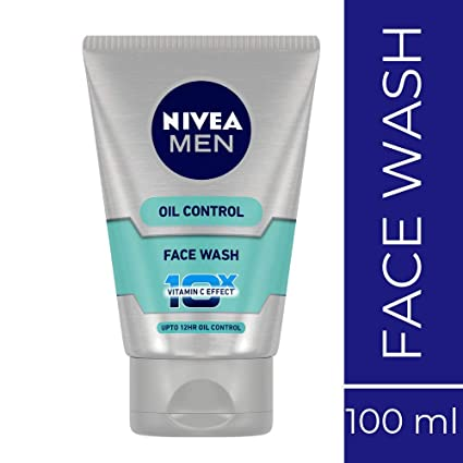 Nivea Men Oil Control Face Wash (10X whitening), 100g
