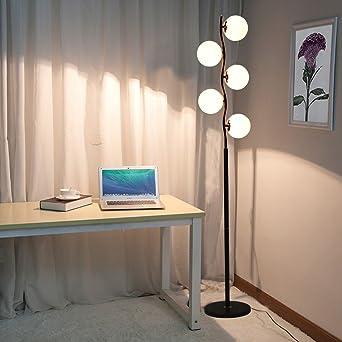 A Kreative Mode Stehleuchte Wohnzimmer Moderne LED Augenbett Lampe  Beleuchtung ( Farbe : Black Glass