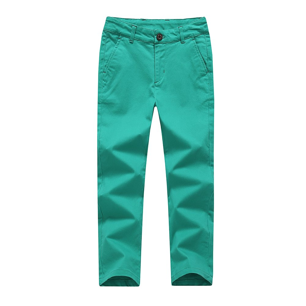 KID1234 Boys Pants - Boys Chino Pants,Adjustable Waist Pants Boys 4-12 Years,12 Colors to Choose,Best Family Dinner