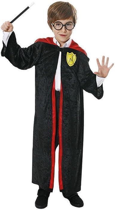 WIZARD BOY COSTUME CLOAK CAPE HOGWARTS GRYFFINDOR WORLD BOOK DAY FANCY DRESS
