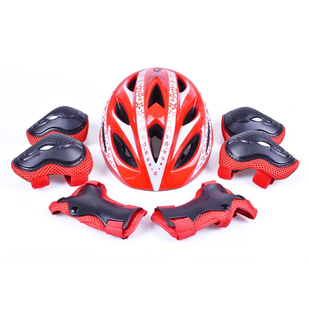 B'DAY SPORTS Kids Bike Helmet Toddler Boys Girls Helmet Sports Protective Guard Gear Set - CPSC Certified - for Cycling, Skating, Scooter, Rollerblading and Other Extreme Sports Activities