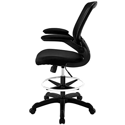 Drafting Stool On Wheels Casters Rolling Desk Chair With Arms Architecture  Adjustable Height Office Chair Mesh