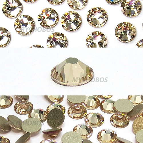 LIGHT SILK (261) beige Swarovski NEW 2088 XIRIUS Rose 12ss 3mm flatback No-Hotfix rhinestones ss12 nail art 144 pcs (1 gross) *FREE Shipping from Mychobos (Crystal-Wholesale)* (Swarovski Roses Silk)