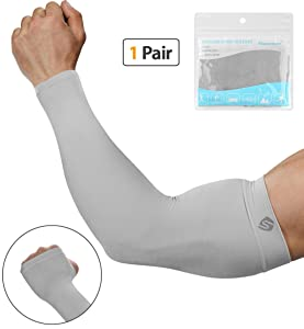 SHINYMOD Arm Sleeves for Men Women, Sun Protection Arm Support Tattoo Covers Sports Compression Sleeves for Golfing,Running,Cycling,Working Out & Arm Warmer
