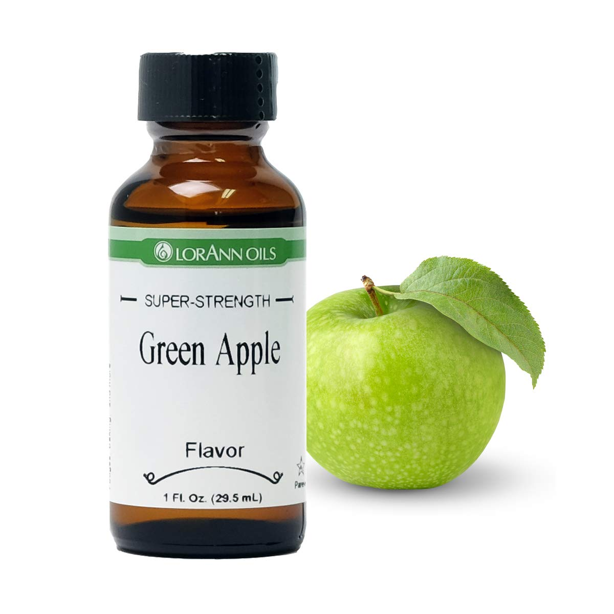 LorAnn Green Apple Super Strength Flavor, 1 ounce bottle