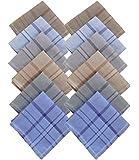 S4S Men's Cotton Handkerchiefs(Multicolour, Medium) - Pack of 12