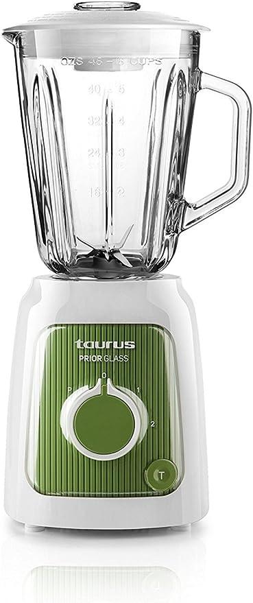Taurus Prior Glass - Batidora de Vaso (600 W, Capacidad de 1.5 ...