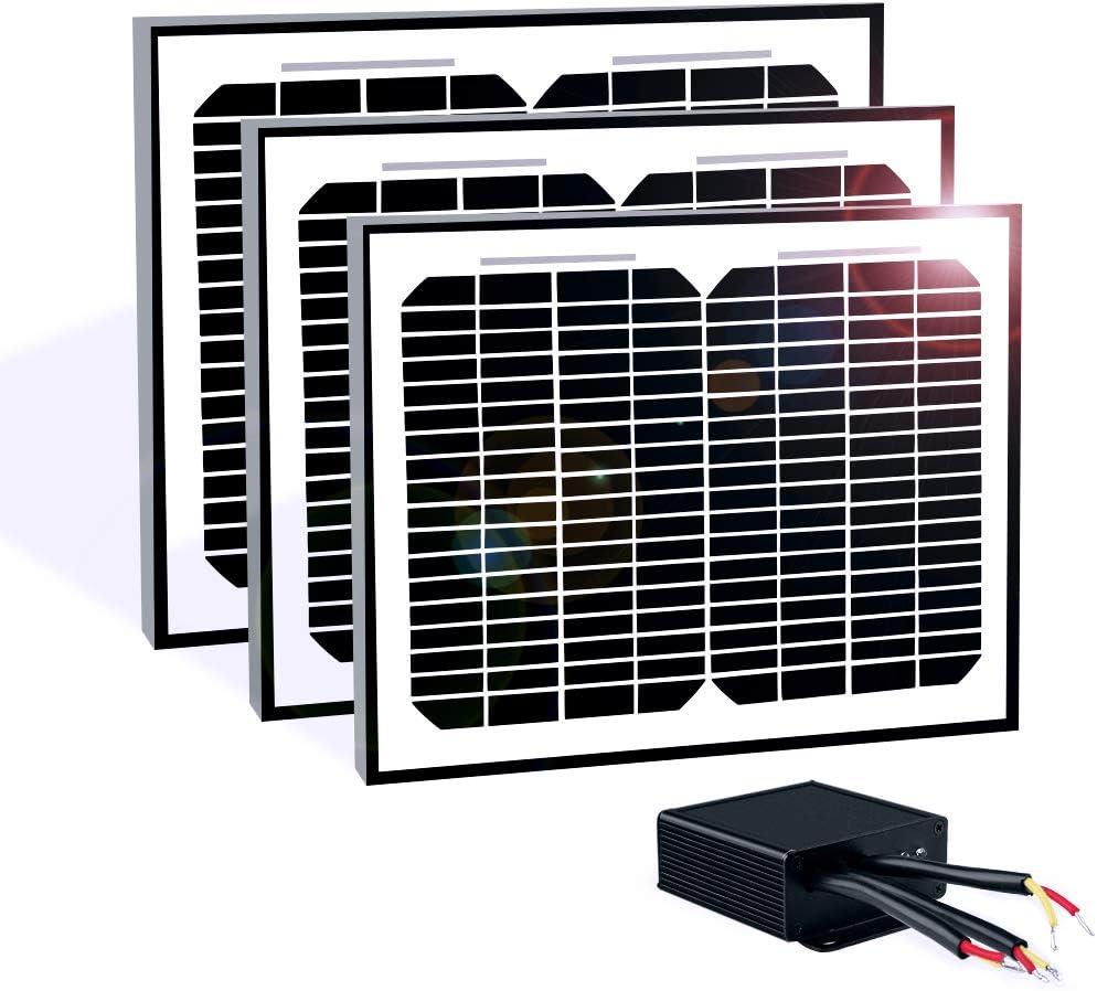 TOPENS TSP30W Solar Panel 30-Watt 24V Monocrystalline Solar Panel Battery Charging Controller Kit, for Gate Opener, Boat, Yacht, RV, Caravan, Golf car, Street lamp, Garden Light and Farm Equipment