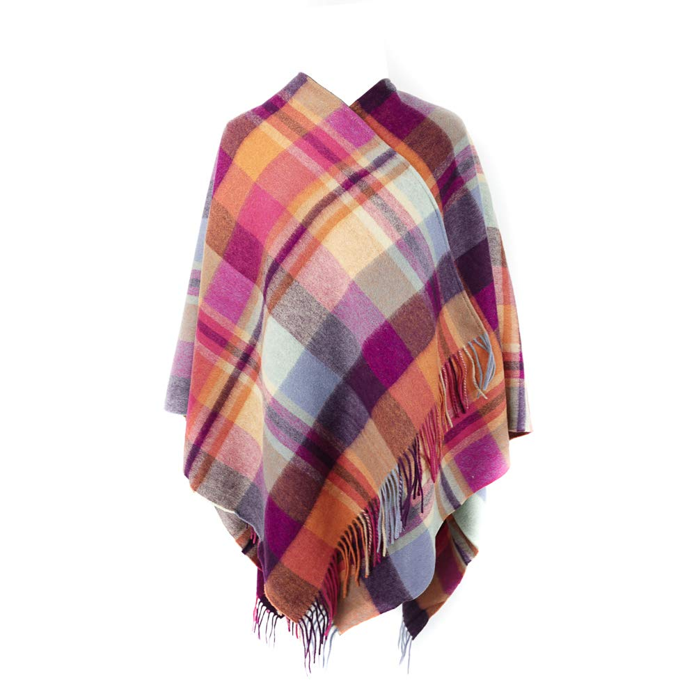 Kiltane of Scotland Capa para Mujer Poncho