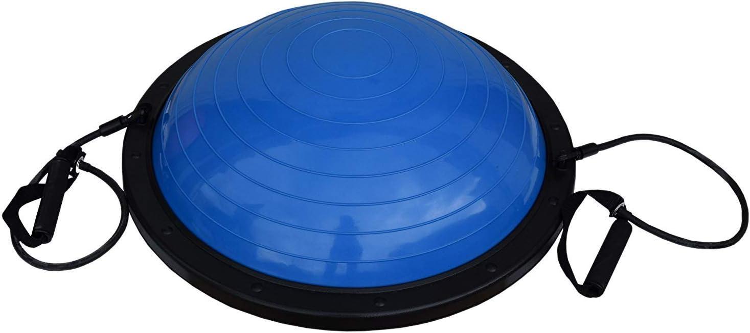 FitAndFun Pelota de Equilibrio Bola con Cuerdas Azul Resistencia ...
