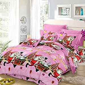 Anself 3D Printed Christmas Bedding Sets Duvet Cover + 2pcs Pillowcases + Bed Sheet