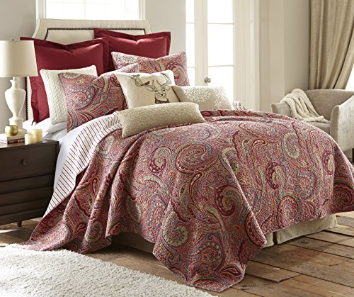 Spruce King Cotton Quilt Set Red - Quilt Red Cotton