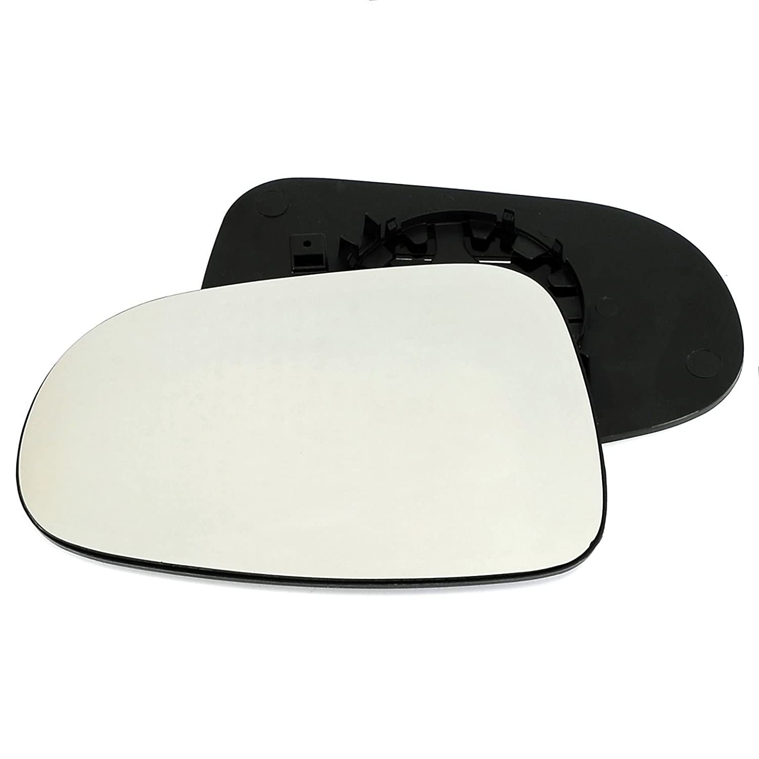 Passenger left hand side Heated wing door Silver mirror glass with backing plate #C-SHY/L-FDGY95 [Clip On] Sylgab