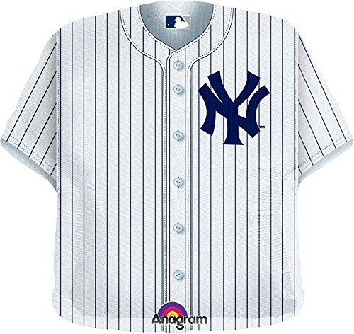 Anagram International New York Yankees Jersey Flat Party Balloons, 24