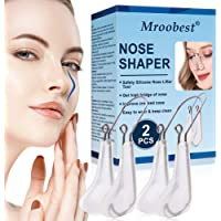 Nose Shaper, Nose Lifter Clips for Up Noses, Beauty Nose Slimming Device-2PCS, Nose Bridge Straightener Corrector, Pain Free, with Soft Silicone
