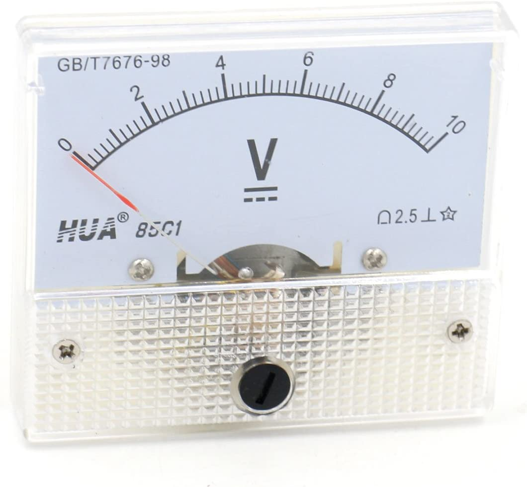 1Pcs 85C1 DC 0-250V 63mmx55mm Analog Needle Voltage Panel Meter Voltmeter