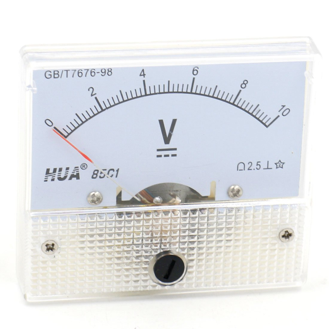 Baomain Analog Voltmeter 85C1 DC 0-10V Rectangle Analog Volt Panel Meter Gauge Hua 85C1-V-10V