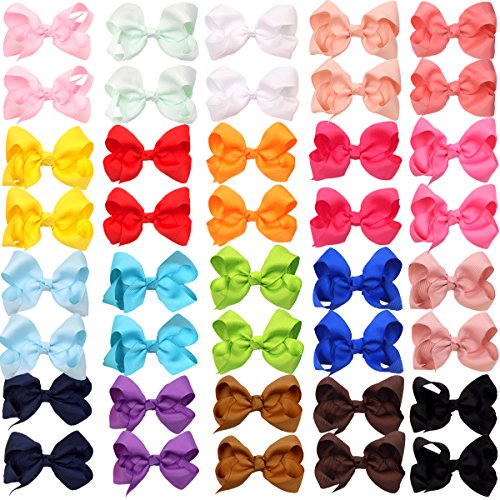 40Piecse Boutique Grosgrain Pinwheel Alligator product image