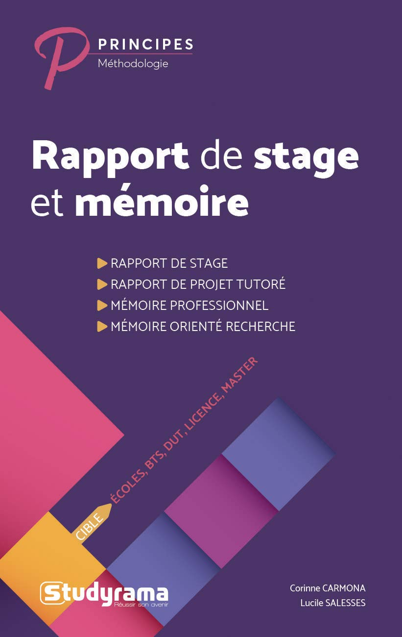 Rapport De Stage Et Mémoire Ecoles Bts Dut Licence