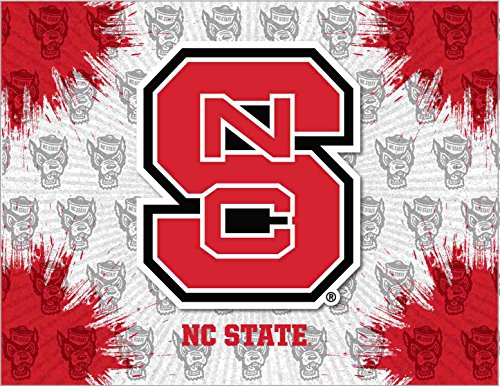 (Holland Bar Stool Co. NC State Wolfpack HBS Gray Red Wall Canvas Art Picture Print (24
