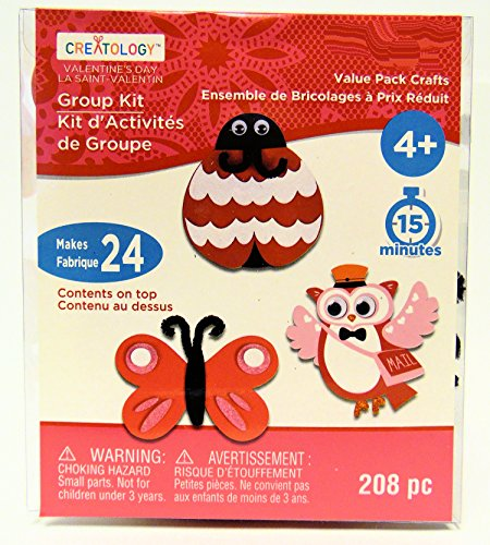 Owl, Butterfly, Lady Bug Valentines Day Craft Fun Foam Kit Activity Kit