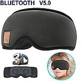 MOITA - Auriculares Bluetooth para dormir, antifaz para dormir con Bluetooth 3D y altavoces de esponja incorporados, auriculares inalámbricos para dormir, siesta, viajes, yoga, 3D Negro