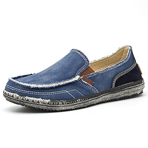BEFAiR - Mocasines de Lona para Hombre, Estilo Vintage, Transpirables, para Caminar al Aire Libre, (Azul (Blue1)), 44.5 EU: Amazon.es: Zapatos y ...