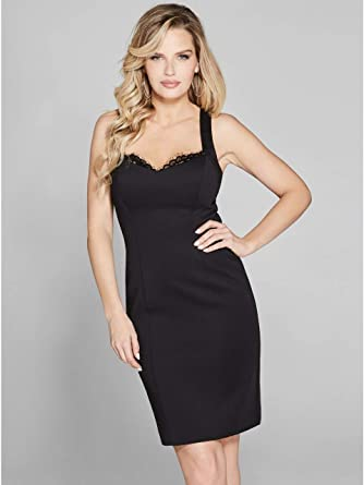 855625ed8f5cf Guess Marciano 92G800-6331Z Robe Femme Noir M: Amazon.fr: Vêtements ...