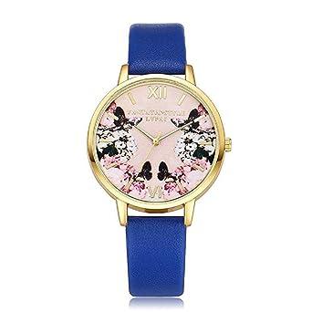Scpink Mujeres Relojes de Cuarzo, Liquidación analógica patrón de impresión Romano Reloj Digital Relojes de