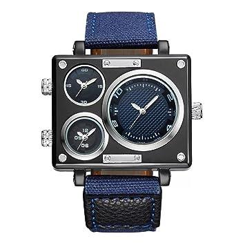 WSWJJXB Mire el Nuevo Reloj de Caballero de diseño de Mesa Grande, Lienzo Deportivo y de Ocio al Aire Libre. (Color : D): Amazon.es: Hogar