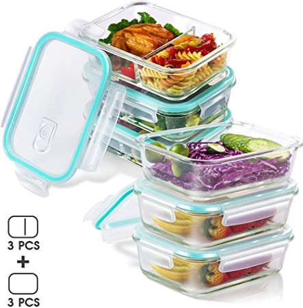 Set di 5 contenitori in plastica per Alimenti Senza BPA. MASTERTOP con coperchi 100/% a Prova di perdite
