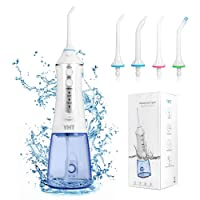 YHT Power Cordless Dental Flossers, Portable Rechargeable Dental Oral Irrigator Water Flossing for Teeth Braces & Bridges Care Home Travel
