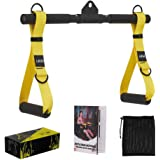 PEXFT Cable Machine Rope Attachment - Crossover Resistance Bands LAT Pulldown Workout Bar Rowing Handle Tricep Rope…