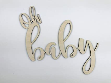 Marthafox Oh Baby Wood Cutout Oh Baby Baby Shower Decor Oh Baby