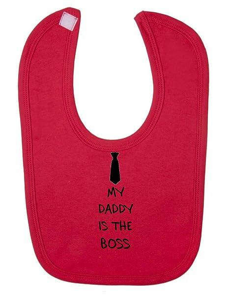 My Daddy es el Boss (corbata) declaración cierre de velcro babero ...