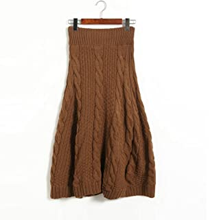 e8e189e415 JCNCE Warm Knit Skirt Autumn Winter Knitted Skirt Korean Style Army Green Women  Skirt Thick Long