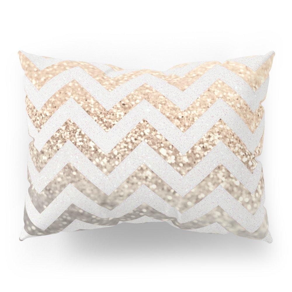 Society6 GOLD & SILVER CHEVRON Pillow Sham Standard (20'' x 26'') Set of 2