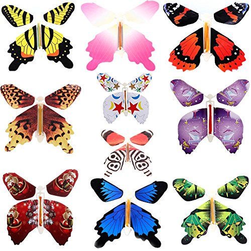 Harlermoon Magic Flying Butterfly Card Surprise Letters Books Children's Day Gifts Wind-up Toys 10 Pcs Set