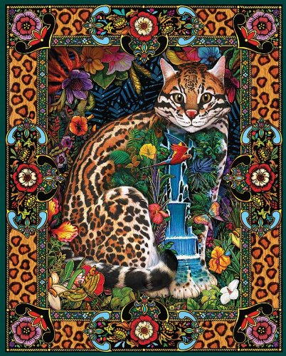 White Mountain Puzzles Tropical Cat