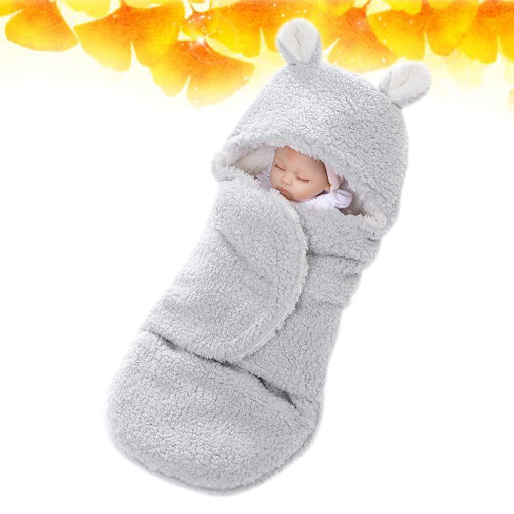 Grigio YeahiBaby Copertine avvolgenti neonato coperte per neonati invernali in cotone