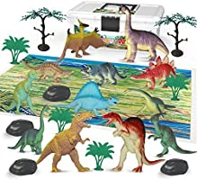 Dinosaur Toys FiguresSet with Carrying Case,5-7 Inch, Pack of 12