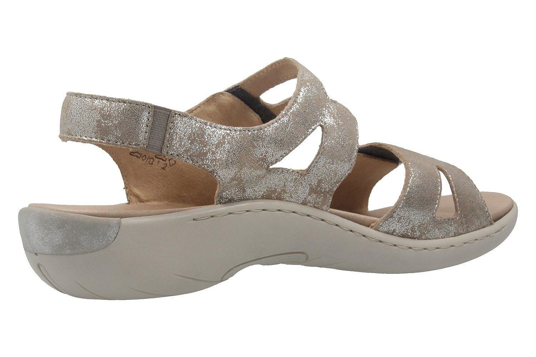 Remonte Grau - Damen Sandalen - Grau Remonte Metallic Schuhe in Übergrößen - 7c0947