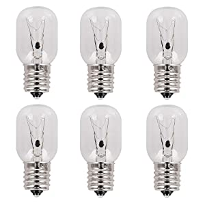 8206232A Pack of 6 Microwave Light Bulb 40w 125v replacement part for Amana Estate Ikea KitchenAid Maytag Roper Whirlpool Microwave - Replaces 8206232 AP4512653 1890433 PS2376034 EAP2376034 PD00003046