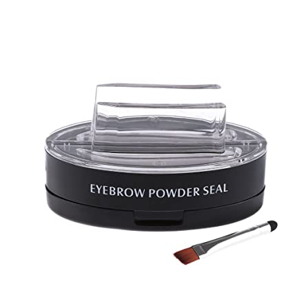 Amazon.com : Wisdompark Professional Eyes Makeup Brow Stamp Seal Eyebrow Powder Waterproof Grey Brown Eye Brow Powder with Eyebrow Stencils Brush Tools ...